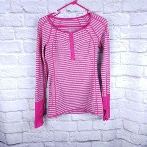 Lululemon Run Sport Henley Luxtreme size 4 pink